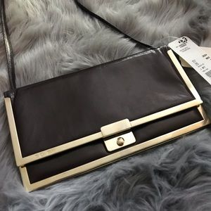 ESCADA Vintage Leather Clutch Shoulder Clutch
